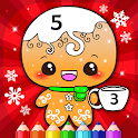 Happy Kids Christmas Coloring Book By Numbers icon
