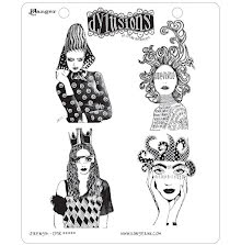 Dylusions Cling Stamps 8.5X7 - Strength