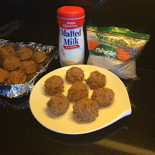 Baked Crispy Creamy Malted Rice Balls