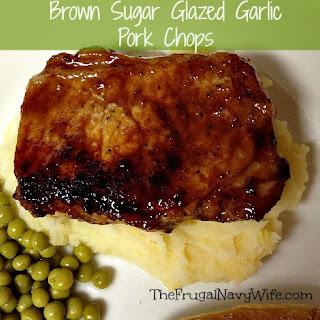 Brown Sugar Glazed Garlic Pork Chops.