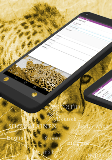 Cheetah Gold Keyboard Theme