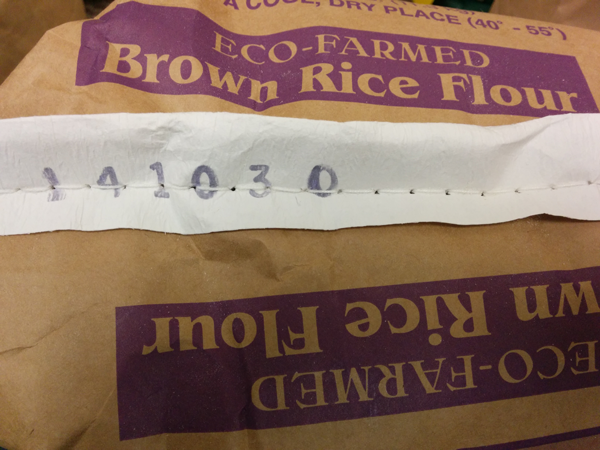 Eco-Farmed Brown Rice Flour, 25 lb. bag with Date Code
