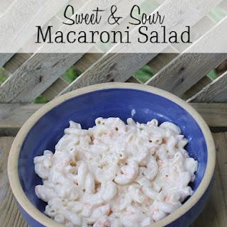 Sweet & Sour Macaroni Salad
