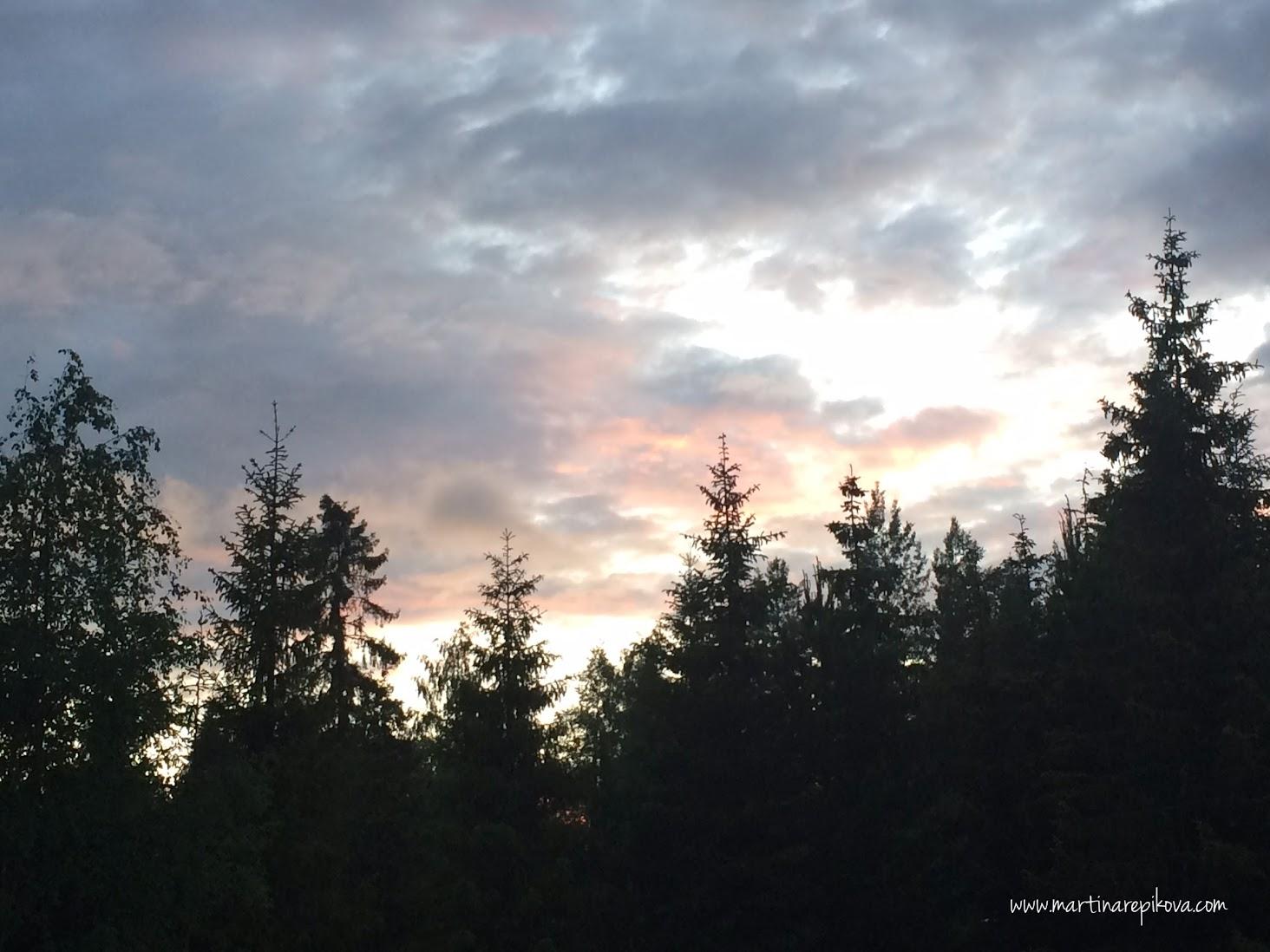 Západ slnka v horách