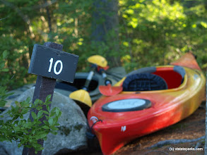 Photo: Kayaks at Site T10 at Kettle Pond State Park by Mark Parsons