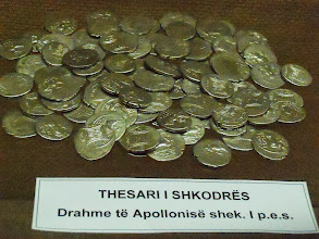 Photo: Silver drachme from Apollonia, 1st century BC, Museum of Tirana