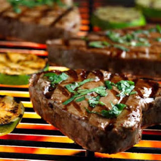 Grilled Tuna Steaks with Cilantro and Basil Recipe