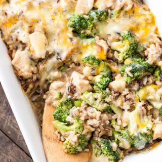 Broccoli, Chicken and Cheese Wild Rice Casserole Recipe