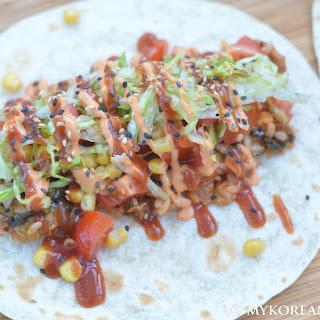 Kimchi Pork Tacos