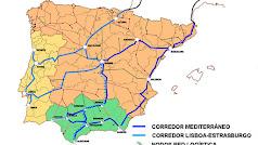 Mapa de corredores ferroviarios, en una imagen de archivo.