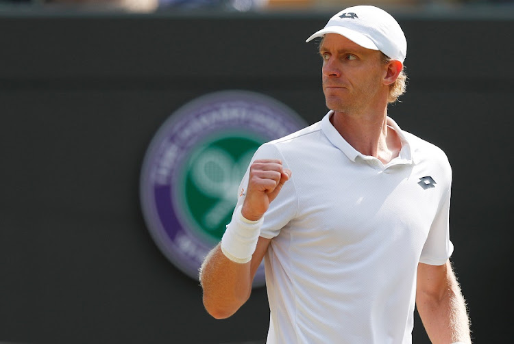 SA's Kevin Anderson reacts during his quarter final match against Switzerland's Roger Federer in which he ousted the defending champion. Picture: REUTERS/ANDREW BOYERS