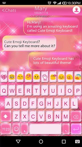 Shining Emoji Keyboard Theme
