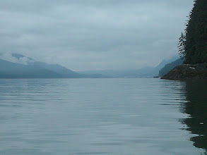 Photo: Juneau comes into view in Gastineau Channel.