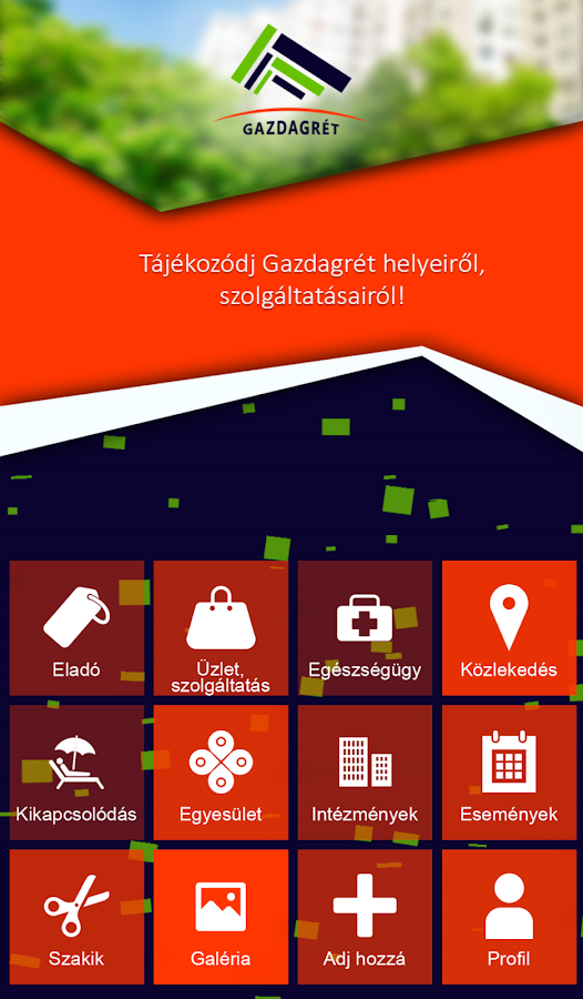 Gazdagrét App- screenshot