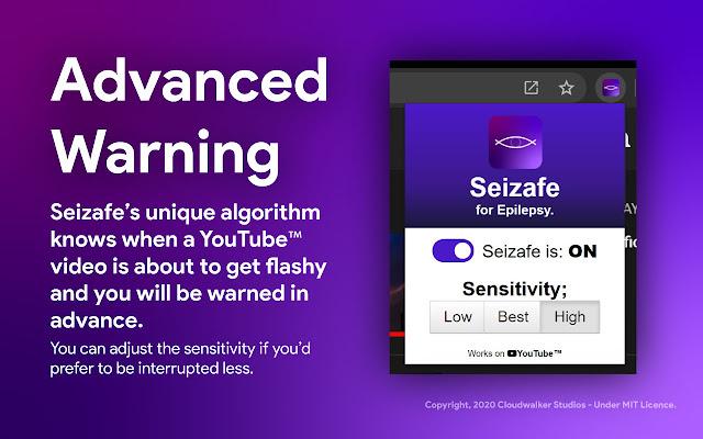 Seizafe - Epilepsy Alert for YouTube™