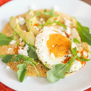 Chickpea Pancake with Avocado, Egg & Chili Oil