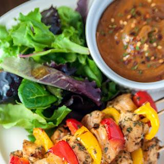 Kickin' Chicken Kebabs w/ Spicy Peanut Sauce #ChickenDotCa