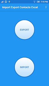Import Export Contacts Excel 1