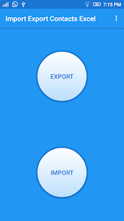 Import Export Contacts Excel - náhled