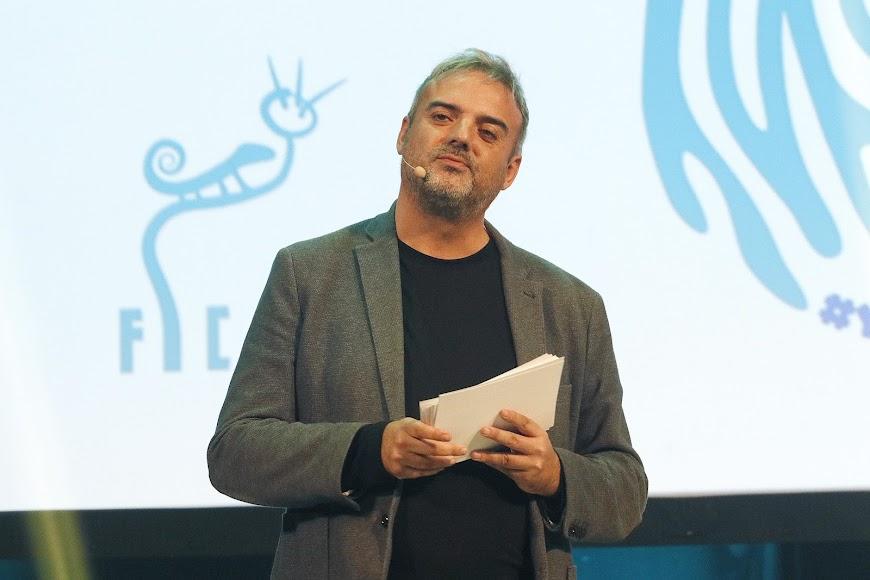 Paco Calavera, presentador de la gala.