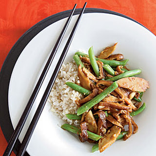 Seitan Stir-Fry with Black Bean Garlic Sauce.