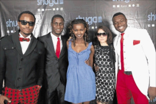 In attendance: Members of the cast of Shuga: Love. Sex, Money at the premiere.