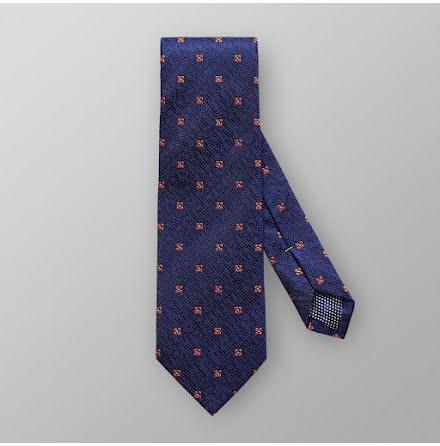 ETON mörkblå orange blommig slips siden