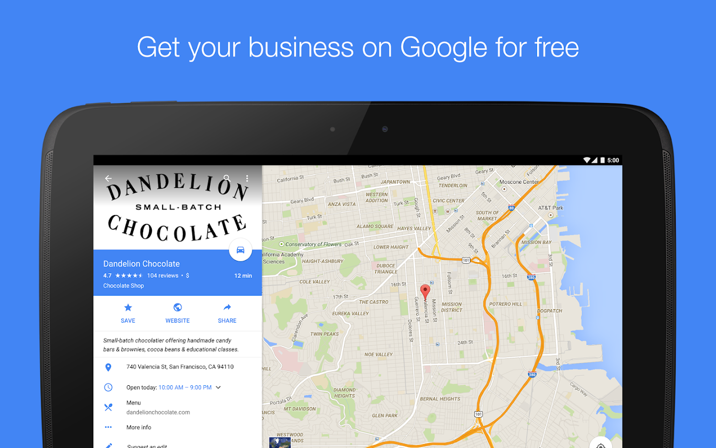 Google My Business - screenshot