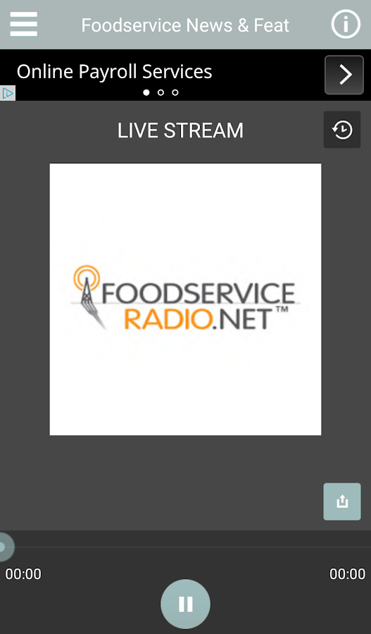Foodservice Radio Player- screenshot