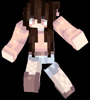 Super kawaii skin! It took a while to make, so please give it a thumbs up! Isn't she cute? <3