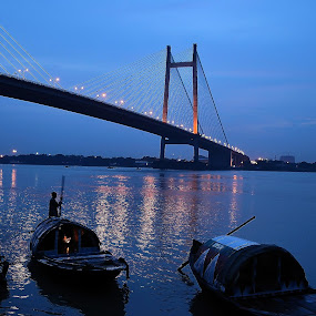 James Prinsep Ghat, Kolkata by Kunal Karmakar - City,  Street & Park  Vistas