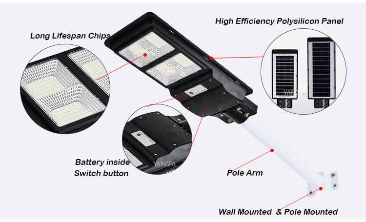cấu tạo đèn năng lượng mặt trời