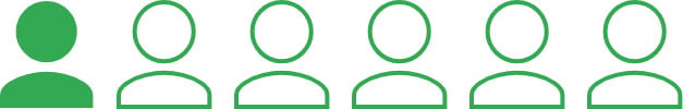 Green graphic representing 1 in 6 people