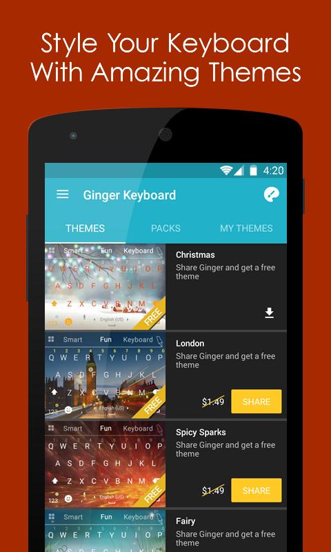 Ginger Keyboard - Emoji, GIFs screenshot #3