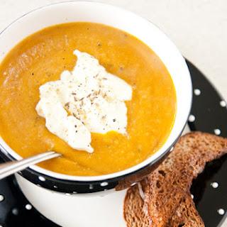Pumpkin & Coconut Soup.