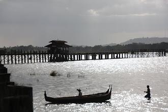 Photo: Year 2 Day 55 - As the Sun Begins to Set on U Bein's Bridge