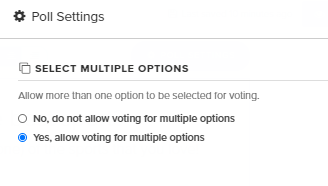 how to change poll settings