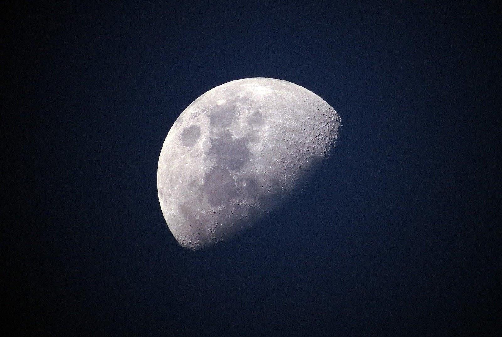 half shot of moon