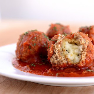 10-Minute Breaded Mozzarella Stuffed Meatball