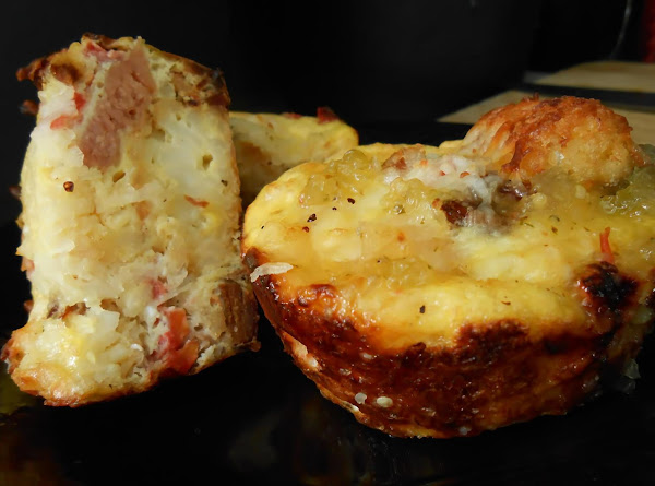 Ham & Tater Tot Egg A La Muffin Tin Recipe