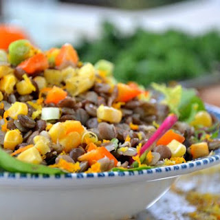 Balsamic Glazed Lentil and Corn Salad from The Healthy Apple Holiday Cookbook