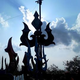mahadev trishool by Mukesh Soni - Landscapes Weather ( god, happy, good, world, all )