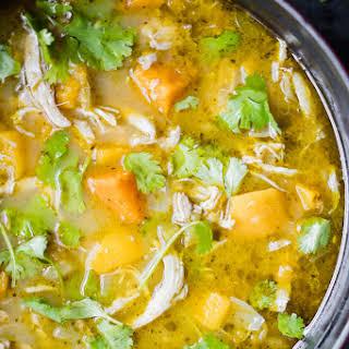 Butternut Squash Green Chile Chicken Soup.