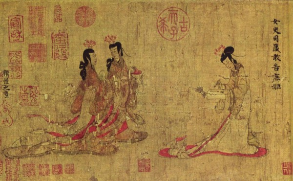 "Ladies of the Tang-Dynasty court, as depicted in the so-called ""Admonitions Scroll"""