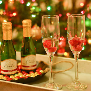 Raspberry Sparkling Wine or Champagne Drink.