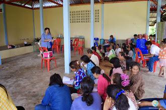 Photo: Group discussion & FFS training session , TOT4 , Tha Tum , Surin