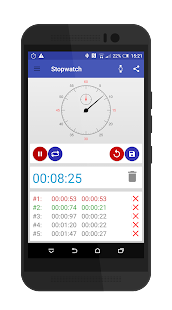 Stopwatch (android wear) - náhled
