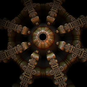 Ancient star by Linda Czerwinski-Scott - Illustration Abstract & Patterns ( abstract, illustration, starfish, fractal, design )