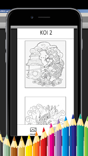 Koi Coloring Book - For Adult - náhled